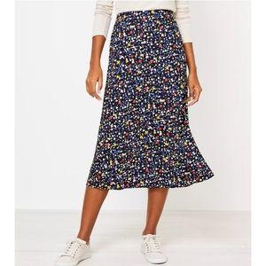 New Heart Pull on Midi Skirt